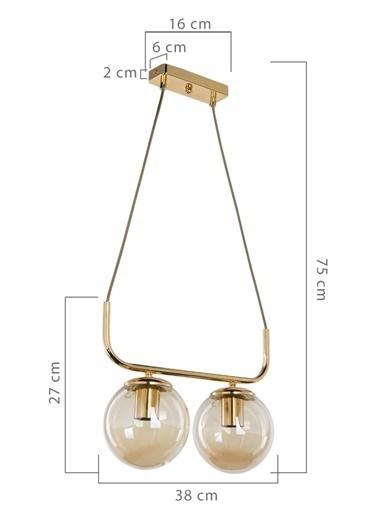 Modelight TERENA 2'Lİ SIRALI SARKIT GOLD Altın
